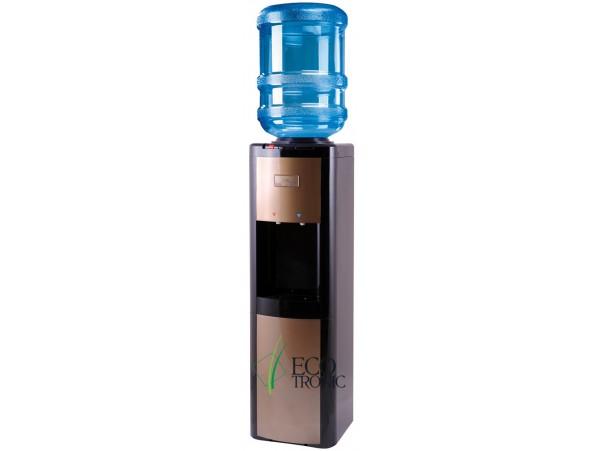 Кулер для воды напольный с компрессорным охлаждением Ecotronic P4-L black/gold