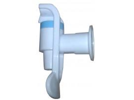 Кран холодной воды без гайки (белый)